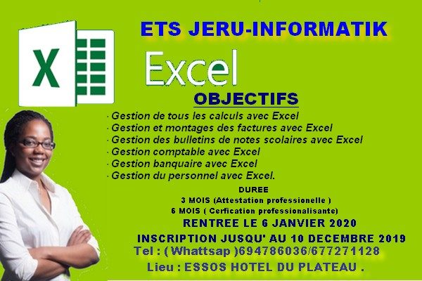 FORMTION EXCEL 3